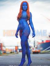 X-men Costume Spandex Zentai Film Mystique impression 3D super-héros Cosplay Costume sur mesure