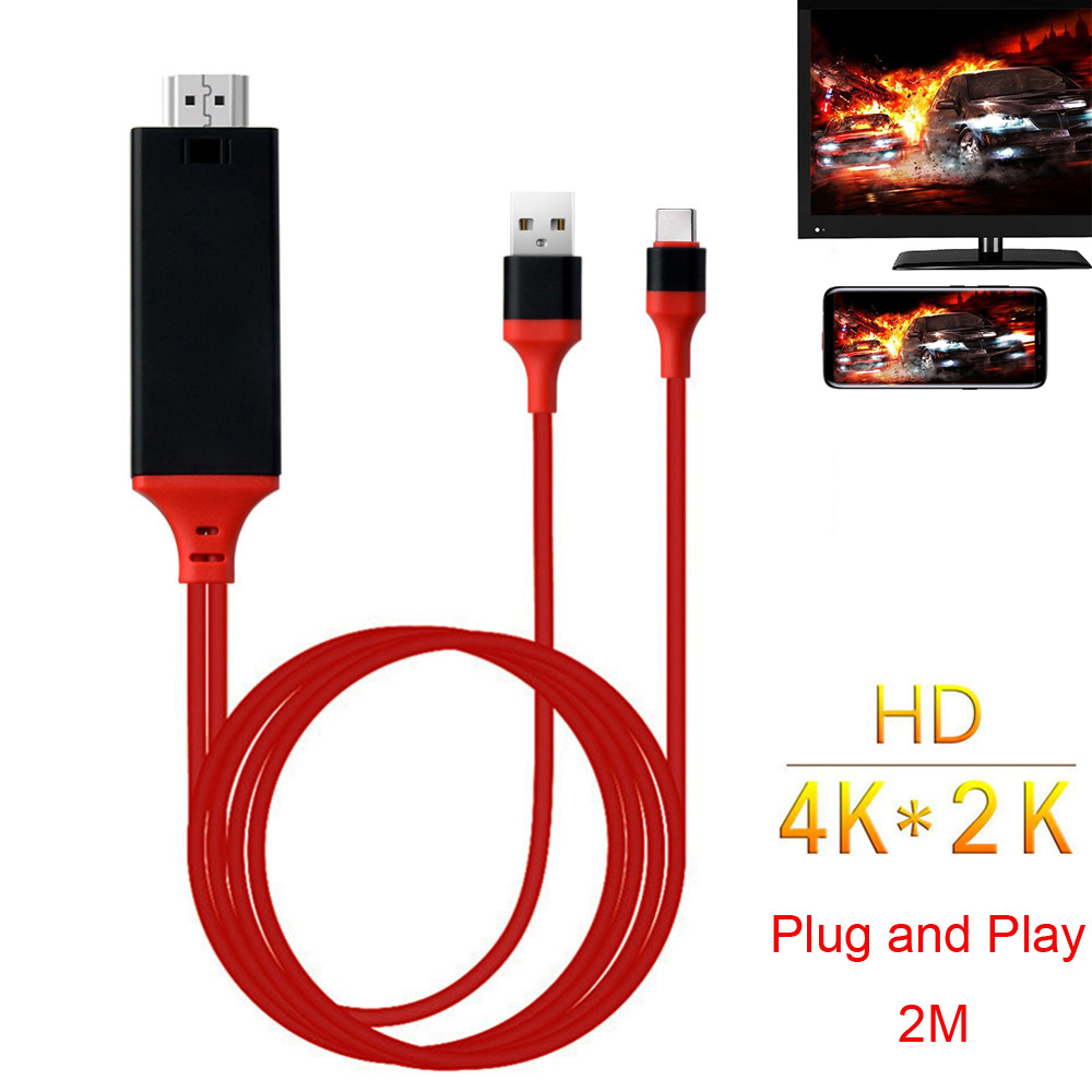 HD Type C USB-C Phone To TV HDTV Projector Video Adapter HDMI Cable For Samsung Galaxy S8 S9 S10 Note 8 Note9 Note10 LG Macbook