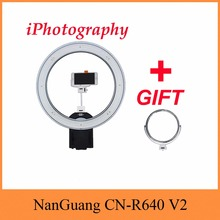 NanGuang CN-R640 V2 Photography Video Studio 640 LED Continuous Macro Ring Light 5600K Day Lighting update by Cn-65C pro / R640
