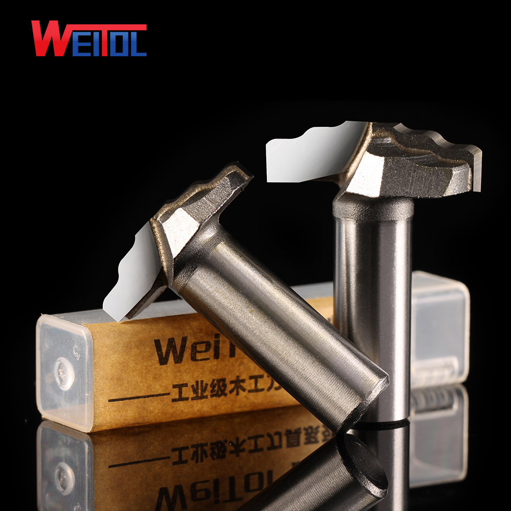 Weitol 1 pcs 1/2 inch Woodworking Cutter Double Edging Router Bits for wood carbide Four arc Carver bit for Various wood high grade carbide alloy 1 2 shank 2 1 4 dia bottom cleaning router bit woodworking milling cutter for mdf wood 55mm mayitr