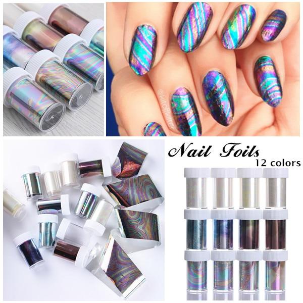 1 Bottle 4*100cm Starry Sky Nail Foils Multicolor DIY Manicure Nail Art Transfer Sticker Decoration Accessories