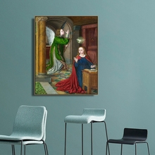 The Annunciation by Jean Hey Wall Art Canvas Poster and Print Canvas Painting Decorative Picture for Living Room Home Decor the annunciation 10124