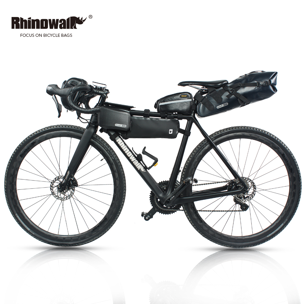 RHINOWALK 5pc/set Bicycle Bag Outdoor Cycling Bike Bag MTB Bike Saddle Tail Seat Bicycle Handlebar Pannier Head Front Tube Bag turner cycling bicycle bike saddle seat tail bag red black