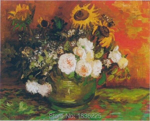 Vernice tela moderni quadri astratti immagini di fiori Olio Su Tela ...
