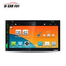 7Inch 2Din Quad-core Car media player Bluetooth GPS Navigation HD Touch Screen AM RDS FM Radio DVD Player Rear View Camera