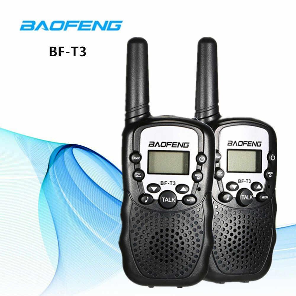 2 шт. Baofeng BF-T3 портативный мини-рация для детей Подарочное радио 0,5 Вт 22CH двухсторонний радиофон радиоприемник приемопередатчика