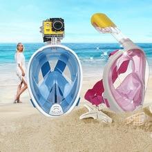 1pcs Drop Shippping Kawo Hot  Scuba Diving Mask Full Face Snorkel Women Men Swimming Full Dry Breath Smooth Training Equipment