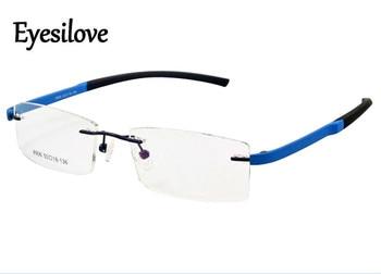 9462d74bfe Eyesilove TR90 súper ligero marcos ópticos sin rebordes marcos para los  hombres mujeres prescripción miopía o lectura