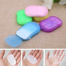 5 Box/Set Portable Soap Paper Outdoor Travel Camping Washing