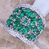 Green Cubic Zirconia White CZ 925 Sterling Silver Ring For Women Size 5 / 6 / 7 / 8 / 9 / 10 / 11 S0179A