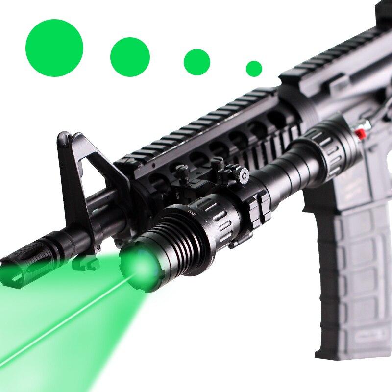 Laserspeed 532nm Laser Designator Hunting Laser Illuminator 100Mw Green Laser Sight With 25.4mm/30mm Picatinny Ring Mounts