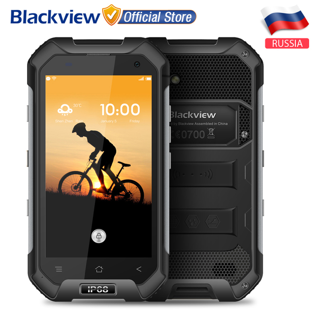 Blackview BV6000 Водонепроницаемый IP68 Мобильный телефон 4.7 дюймов HD MTK6755 Octa ядро Android 6.0 3 ГБ RAM 32 ГБ ROM 13MP Cam 4 Г Смартфон