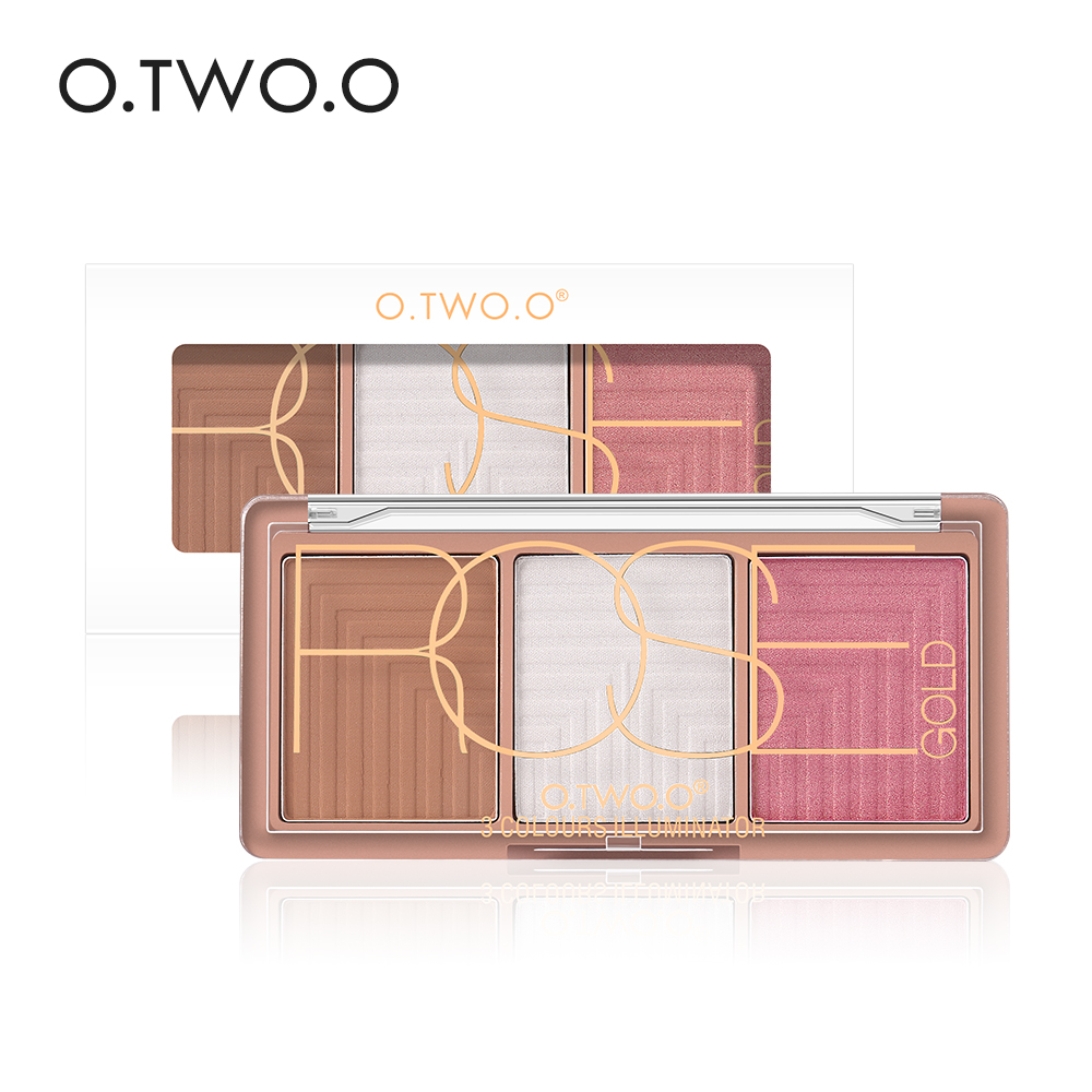все цены на O.TWO.O 4Colors Blusher Palette Face Contour Powder Highlighter Bronzer Makeup Base Foundation Powder Highligter Powder