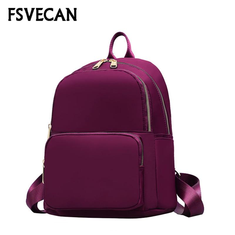 FSVECAN nowy 2019 kobiet plecak wodoodporny Mochila Mujer na co dzień podróży lekki Nylon plecaki szkolne dla nastolatków dziewczyny plecak w Plecaki od Bagaże i torby na  Grupa 1