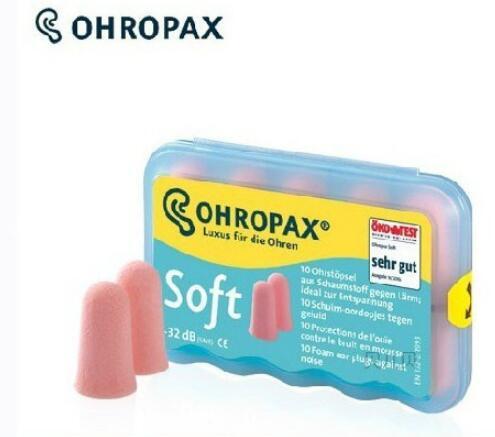 5 pares de tapones para los oídos de espuma suave Ohropax lavables para detener el ruido tapones para los oídos reducción de ruido para dormir de viaje