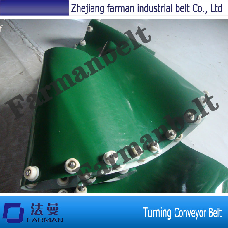 Best Quality PVC Turning Conveyor Belt small belt conveyor band carrier pvc line sorting conveyor for bottles food customized moving belt rotating table sgz ssja8d