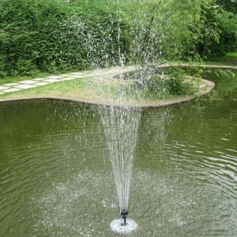 solar bomba de agua panel waterpomp flotante de la piscina las plantas de jardn fuente de