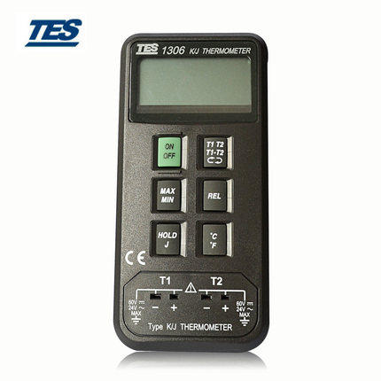TES TES-1306 Digital Industrial Thermometer K/J Type Thermocouple Input