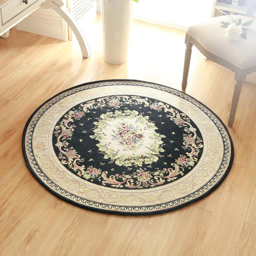 high quality europe jacquard round carpet diameter 120cm parlor