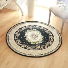 Europa de la alta calidad jacquard carpet redondo diámetro 120 cm salón salón esteras alfombras de baño silla del dormitorio carpet home decorate