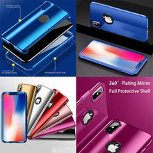 Double-Layer 2in1 untuk Apple iPhone X 8 7 6S 6 Plus Mewah 360 Full Body Cover Plating cermin Armor Pelindung Hard Case Shell(China)