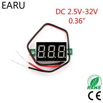 Red LED Display Mini Digital 4.5v 30v Voltmeter Tester Voltage Panel Meter For Electromobile Motorcycle Car Blue Green Hot Sale|Voltage Meters| |  -