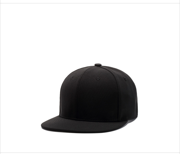 Solid Color Skateboard Hats Polyester Flat Bill Cap Plain Baseball ... d7ff88024114