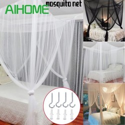 190*210*240cm Oversized Home Practical Mosquito Nets Black /White /Beige Four Corner Post Bed Canopy Camping Mosquito Net