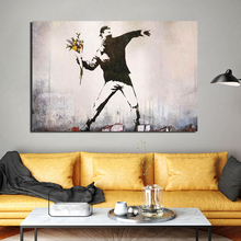 Banksy Graffiti Artwork Canvas Painting Print Living Room Home Decoration Modern Wall Art Oil Posters Picture Framework