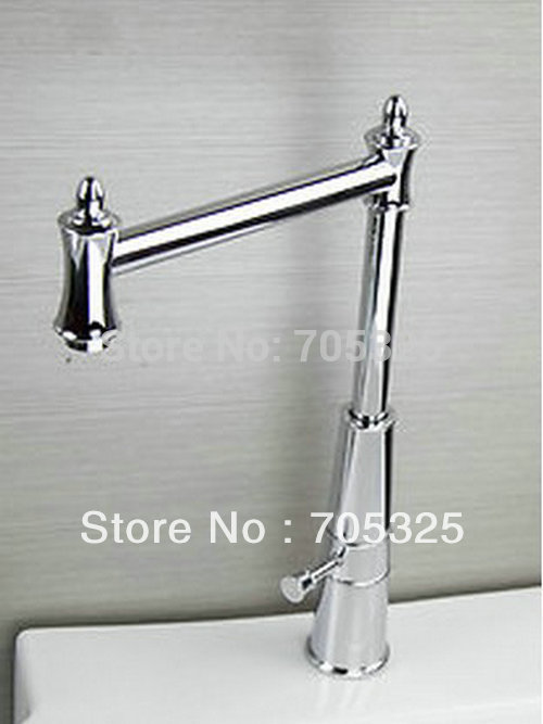 Modern Single Handle Chrome Brass Kitchen Sink Faucet Swivel Mixer Tap Z251 free shipping high quality chrome brass kitchen faucet single handle sink mixer tap pull put sprayer swivel spout faucet