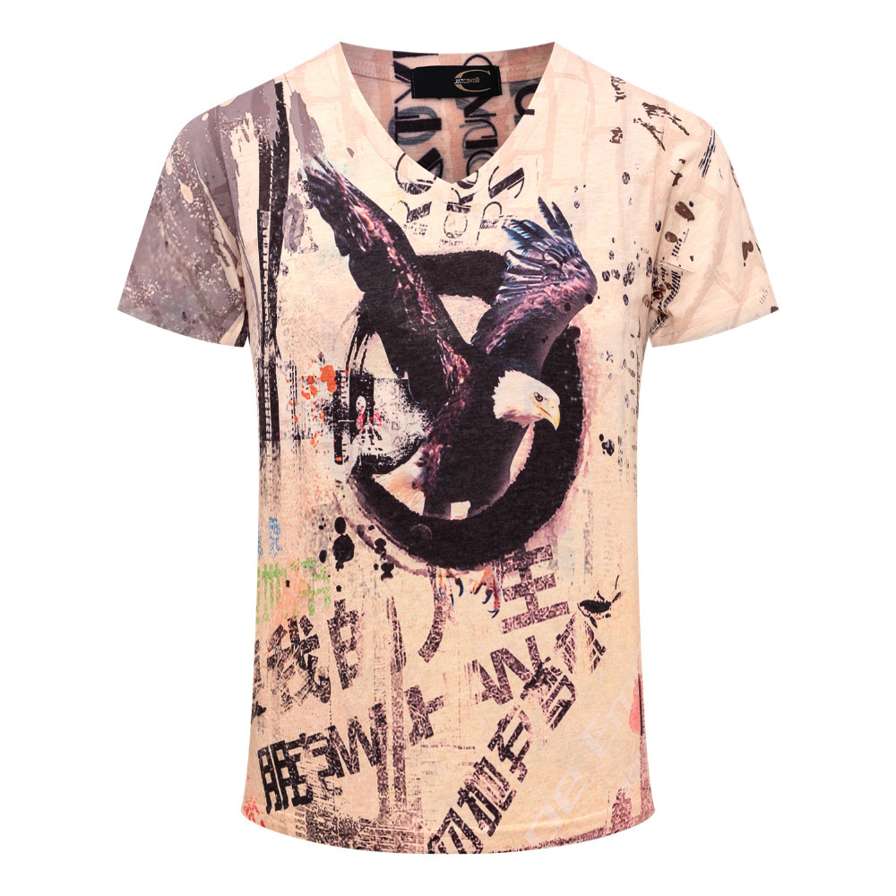 Shirt design cheap - Eagle Printed Casual T Shirt 2017 Fashion Brand Design Blouses Tops Tees Summer Short Sleeve Dress Shirt M 3xl Men S Cheap Wear