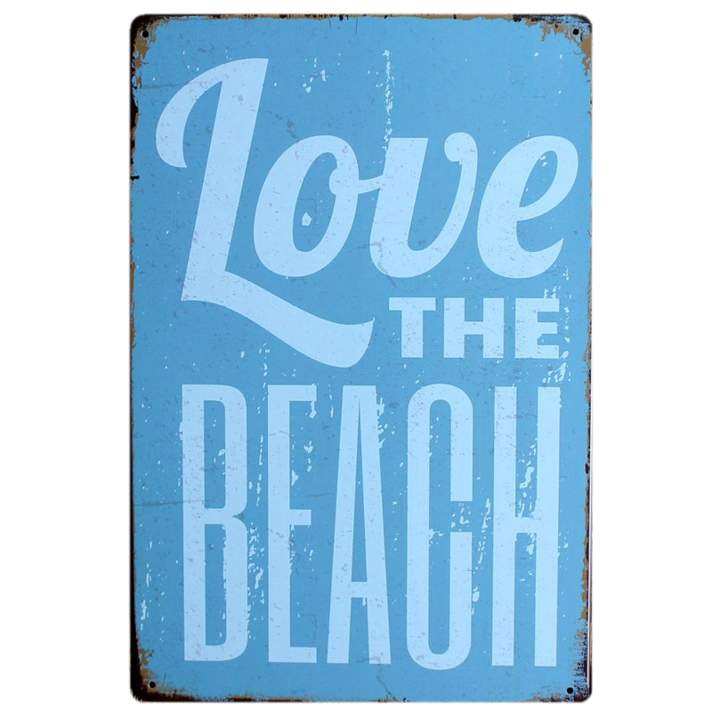 Life is good at the beach Metal Painting Wall Bar Home Art Decor Cuadros Mix Order 30X20CM A 5631 in Plaques Signs from Home Garden
