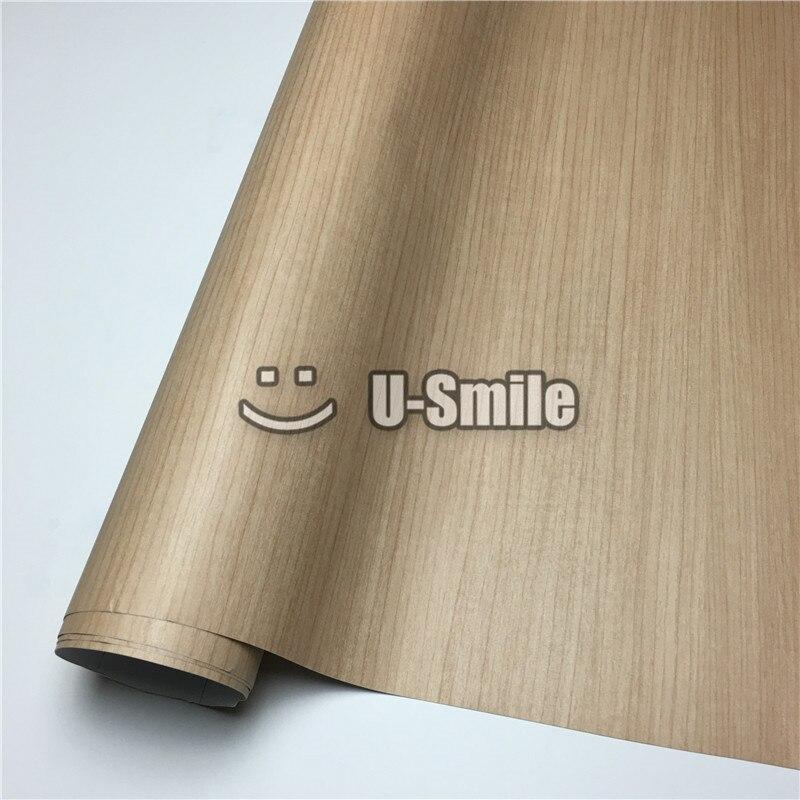 Film en bois de teck voiture en bois texturé vinyle Wrap autocollant bois vinyle rouleau taille: 1.24X50 m