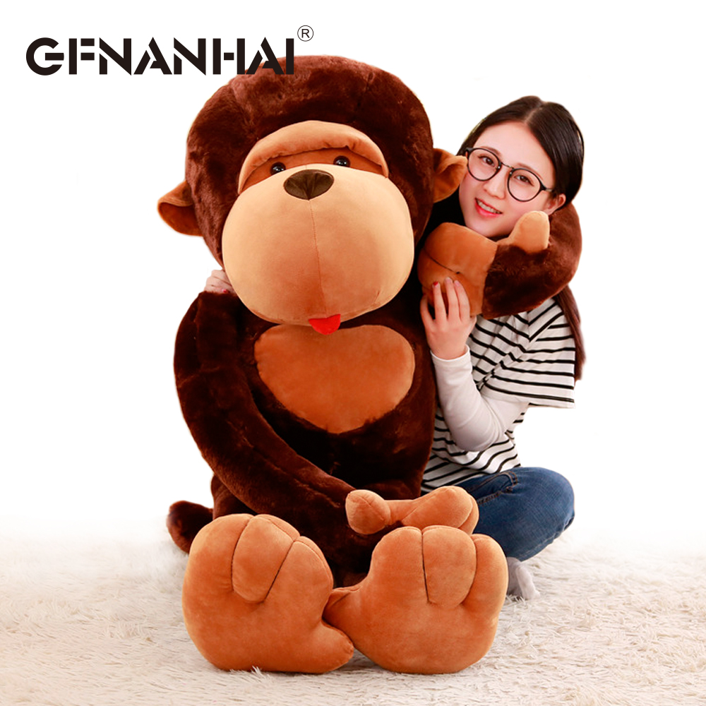 1pc 80cm cartoon Long arm orangutan plush toy stuffed soft Big mouth monkey Diamond doll for kids children birthday gift amysh hot 4 colors 65cm long arm monkey from arm to tail plush toys colorful toy soft monkey curtains monkey stuffed animal doll