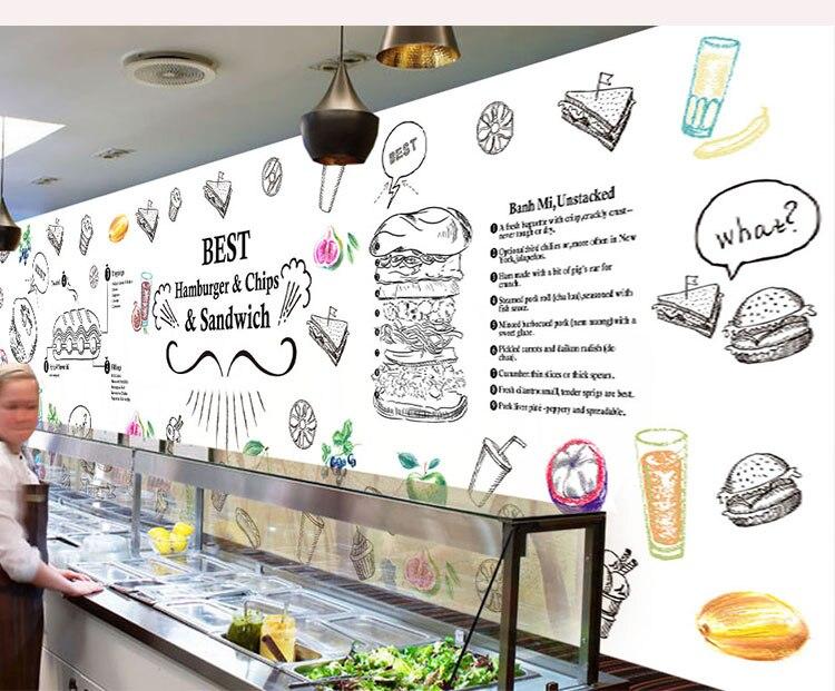 3D Photo Wallpaper 3D Hand Painted Graffiti Mural Sofa TV Living Room Backdrop Coffee House Restaurant Bakery Wallpaper Mural