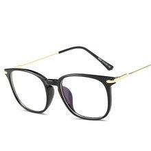 cdd434d303 Vintage Style Women Men Popular TR90 Lens Glasses Square Frame Trendy Nerd  Anti-radiation Goggles Eyeglass