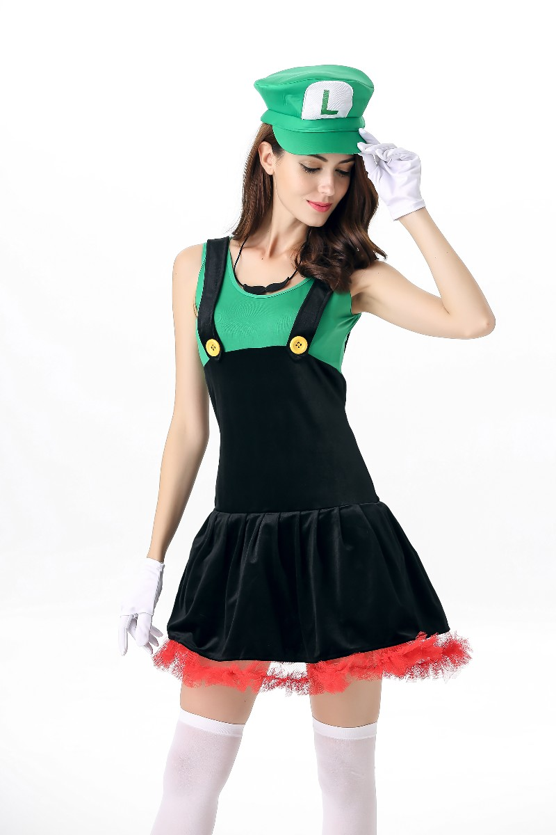 free shipping super mario costume women for adults girl cosplay