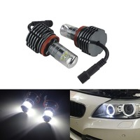 ANGRONG LED 60W Angel Eye Halo Light H8 Bulb For BMW 3 Series E92 M3 08 13 E82 E88 E60 E61 E63/E64 E84 E70 E71 E89