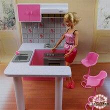 新加入バービー家具ミニチュアコンボキッチンプレイセット人形の夢の家 diy のおもちゃ
