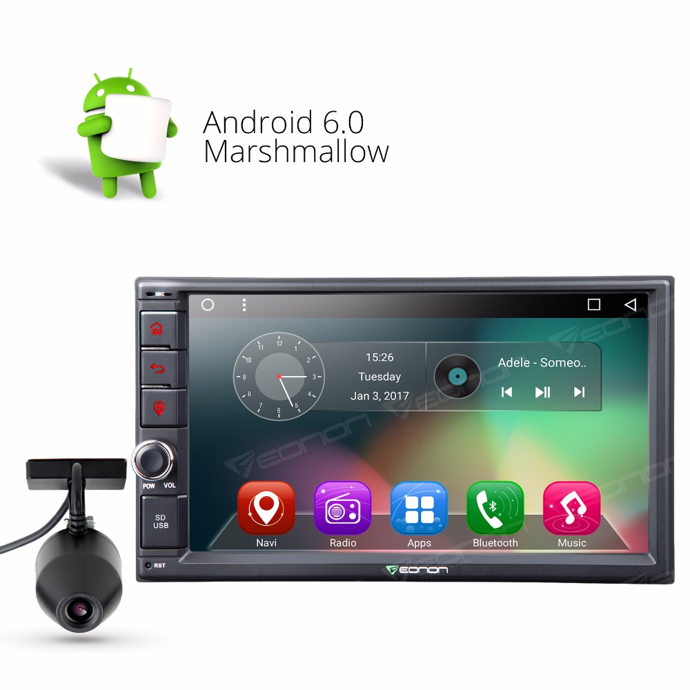 7 Android 6 0 2 Din Car Radio GPS Navigation In Dash Stereo 2GB Touch Dashcam A