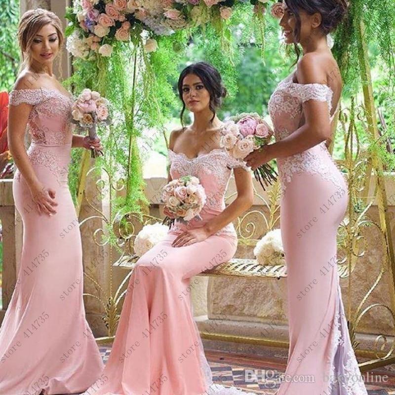 Customized peach color   bridesmaid     dress     bridesmaid     dress   long 2019 abito lungo cerimonia donna hu da beauty ever pretty 2-20w