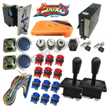 DTY LED Arcade cabinet 960 in 1 game machine kit with Pandora's Box 5 coin reader power supply jamma harness HDMI/VGA Output