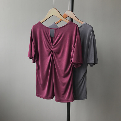 2018 new summer wear pure cotton sports leisure self-cultivation T-Shirts routinely T-shirt girl