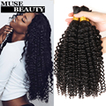 Top Peruvian Deep Curly Bulk Hair 3 Bundles 10A Peruvian Braiding Human Hair No Weft Rosa Peruvian Kinky Curly Virgin Bulk Hair