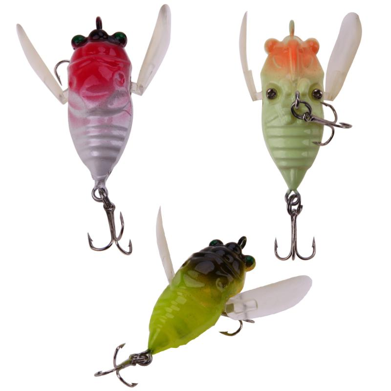 5cm 6.5g Cicada Fishing Lure 3d Eyes Bait Crankbait Wobblers Artificial Popper Hard Bait Fishing Tackle Pesca Lures trulinoya 6cm 16g fly fishing lure vmc hook fishing hard bait crankbait wobblers artificial bait for sea carp fishing pesca
