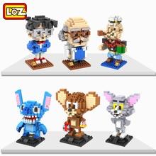 LOZ Anime Block Classic Toy Detective Brick Popeye Tom Jerry Micro Building blocks Assemblage Figures Stitch Kid Baby Toys 9441