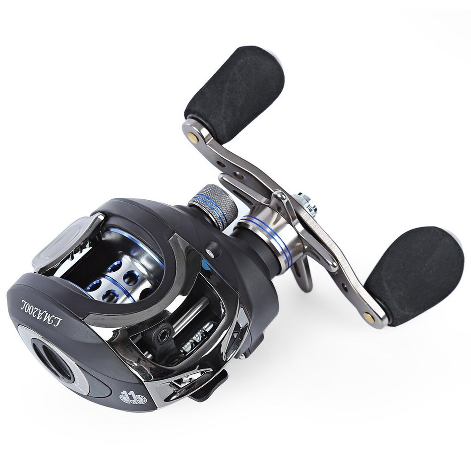 Lma200 double brake baitcasting reel 11bb left hand for Left handed fishing reels