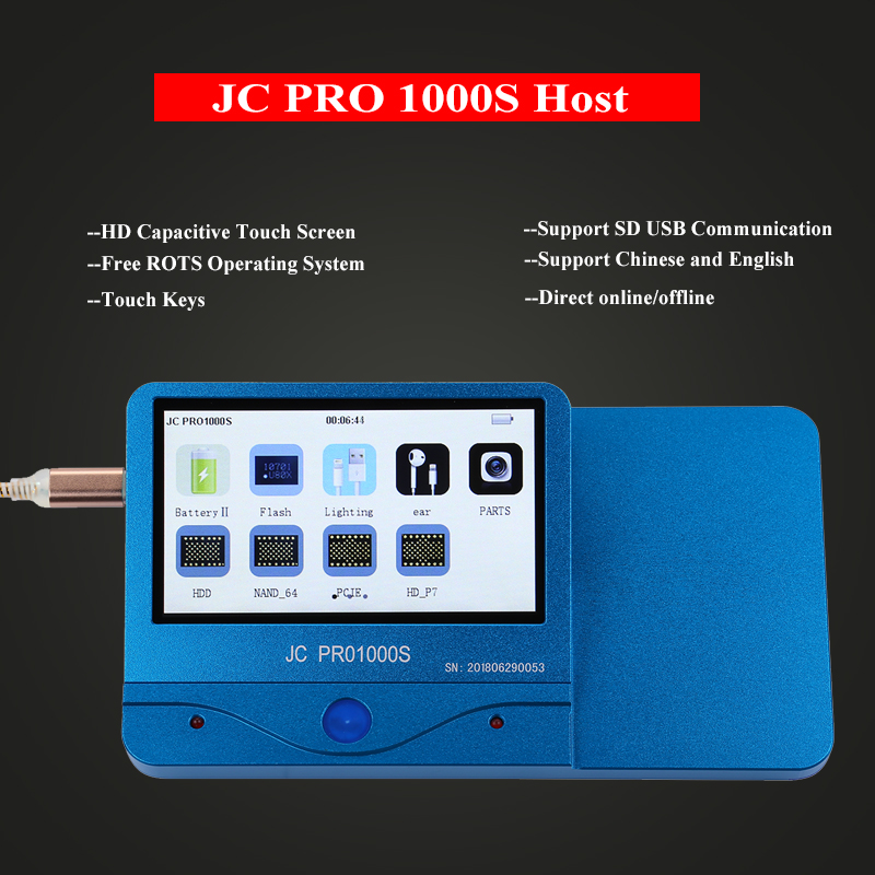 JC PRO1000S Baseband EEPROM IC Chip Programmer Read Write for iPhone 6 6P 6S 6SP EEPROM IC Repair Tools