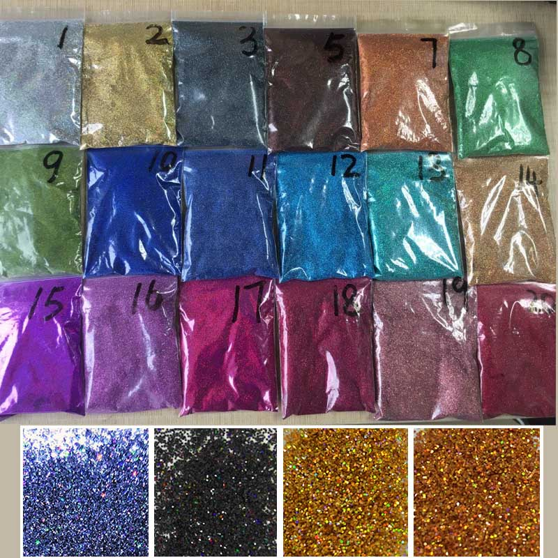 21pcs Holographic Nail Glitter Powder Shining Sugar 50G Bag Nail Glitter Hot Sale Dust Powder For