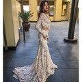 Two Pieces Long Sleeve Weding Dress Vestidos De Noiva Mermaid Wedding Dresses Court Train Robe De Mariee Lace Wedding Dress 2017